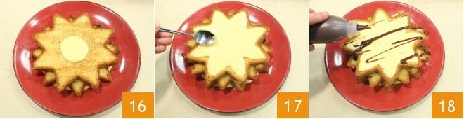 Stelle di pandoro con crema allo zabaione