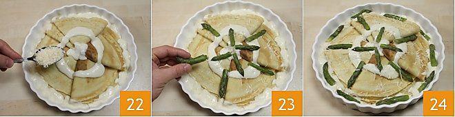 Crepes alla crema di asparagi