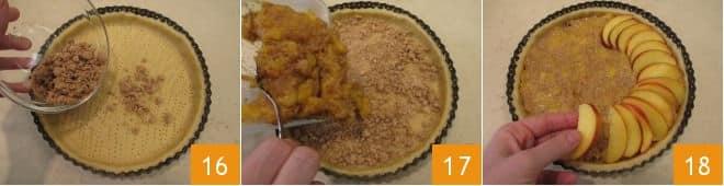 Crostata di pesche e amaretti
