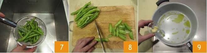Spadellata di scorze di fave