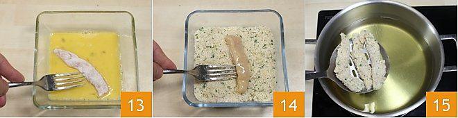 Bastoncini di pollo con salsa alla senape