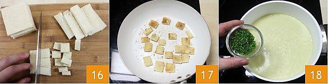 Vellutata di asparagi e patate con crostini