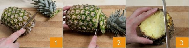 Spiedini marinati all'ananas