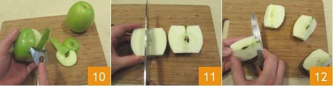 Carpaccio di spada affumicato con insalata di mele e rucola
