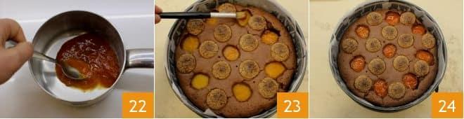 Torta al cioccolato con albicocche e amaretti