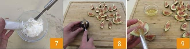 Bruschetta con fichi e crudo dolce
