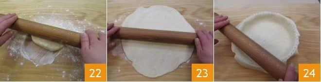 Crostata con pesto misto e pancetta