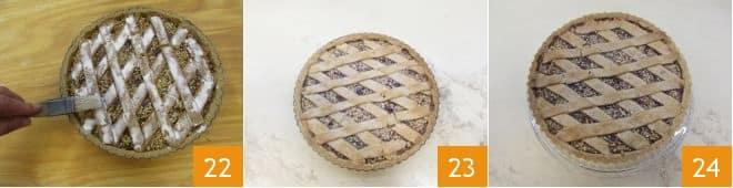 Crostata alle nocciole con confettura di fichi