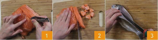 Terrina di pesce e spinaci