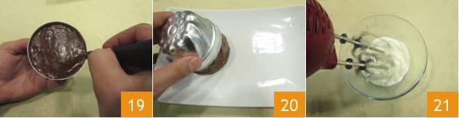 Budino al cioccolato e coulis di lamponi