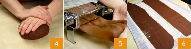 Tagliatelle al cacao, noci e gorgonzola
