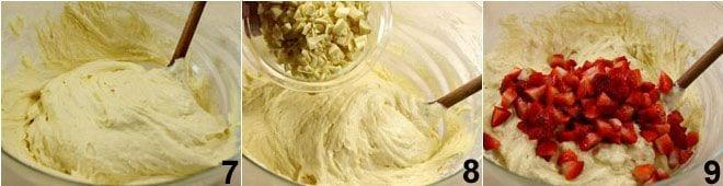 Muffin al cioccolato bianco e fragole