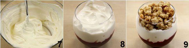 Coppette di yogurt e frutti di bosco