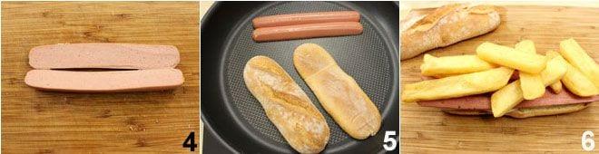 Panino wurstel e patatine