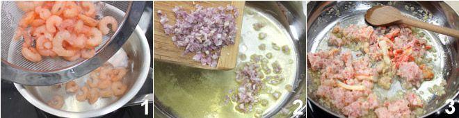 Gnocchetti con polpa di granchio e gamberetti