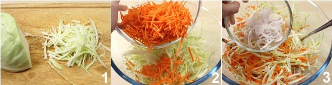 Insalata di cavolo e carote (coleslaw)