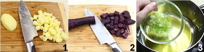 Vellutata di carote viola