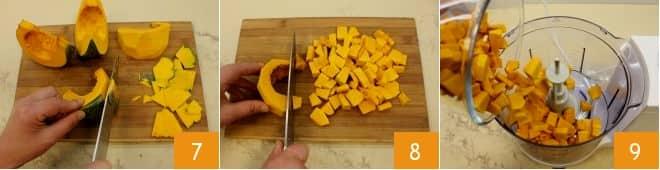 Risotto alla zucca con robiola e pancetta croccante