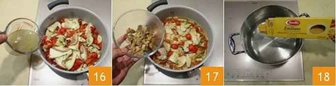 Tonnarelli alle vongole, porcini e pomodorini
