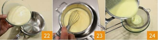 Pandoro al latte condensato e gocce di cioccolato