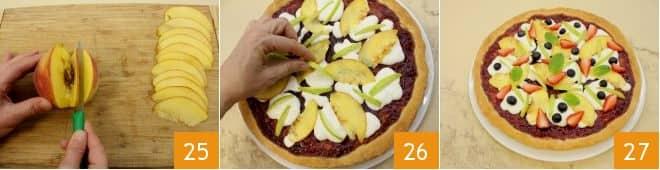 Pizza dolce con confettura di fragole