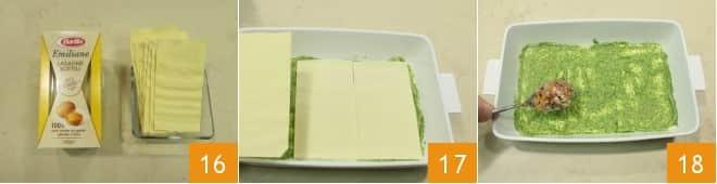 Lasagne al verde con pesto di rucola e ragù di polpo