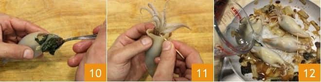 Calamari ripieni di bieta, uvetta e mandorle