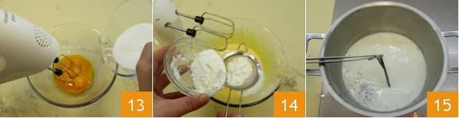Mini tarte tropezienne con crema mousseline e confettura di albicocche