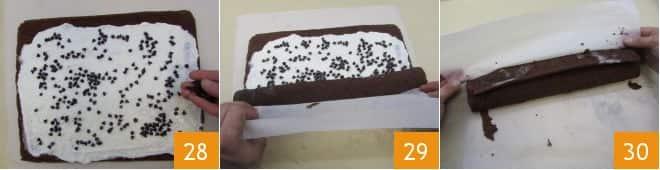 Rotolo al cacao con crema al latte