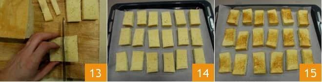 Tris di canapè di pan brioche con gamberi