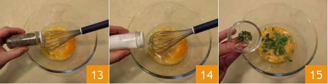 Frittata di patate e peperoni