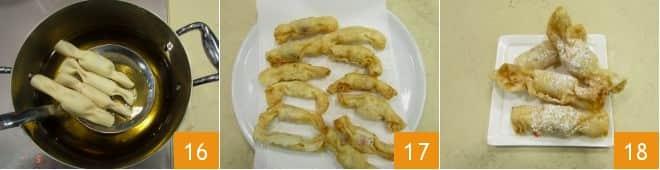 Caramelle fritte con crema pasticcera e frutti di bosco