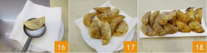 Panzerotti alla crema di pomodori secchi e scamorza