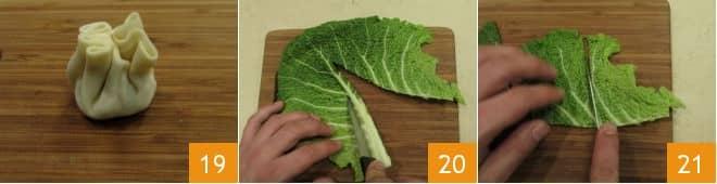 Ravioli al vapore all'orientale con verdure e mazzancolle