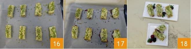 Mini strudel ai frutti di bosco e ricotta