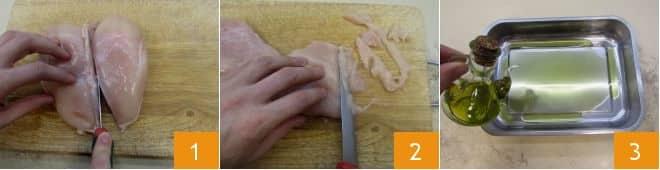 Straccetti di pollo al radicchio