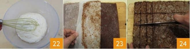 Sandwich di brownies al cioccolato