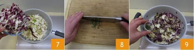 Torta salata ai funghi e radicchio