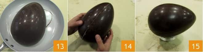 Uovo di Pasqua al cioccolato fondente