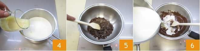 Ovetti di panna cotta al cioccolato