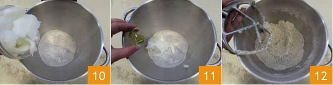 Piadina di grano saraceno con straccetti di pollo e chips al forno