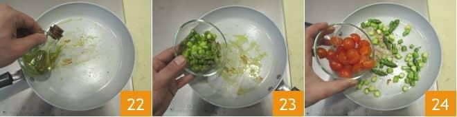 Orecchiette di grano arso con coregone e asparagi