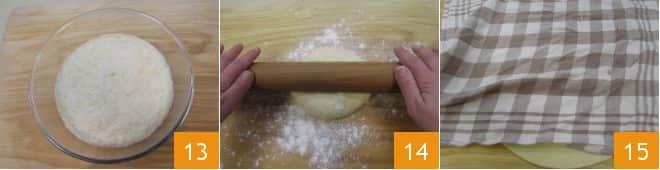 Focaccia ripiena pizzicata