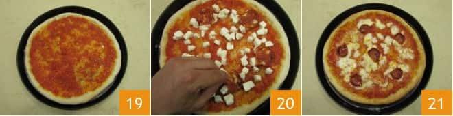 Pizza a portafoglio con salame