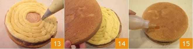 Torta Saint Honoré  con pan di Spagna