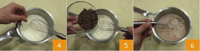 Mousse al cioccolato con frollini all'arancia