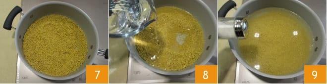 Polpette di miglio alle verdure con crema di fave