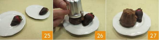Tortino al cioccolato e fragole