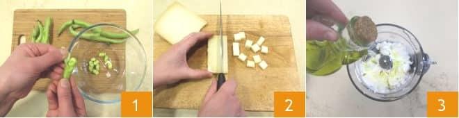 Cartocci di fave e formaggio