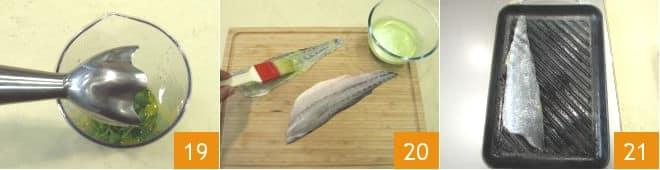 Ombrina alla scottadito su crema di ceci e rosmarino